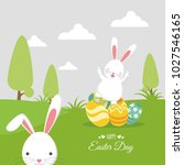 easter day background  with... | Shutterstock .eps vector #1027546165