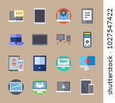 icons computer with computer ... | Shutterstock .eps vector #1027547422