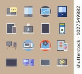 icons computer with device ... | Shutterstock .eps vector #1027549882