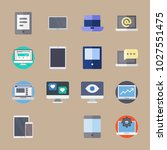 icons computer with laptop ... | Shutterstock .eps vector #1027551475
