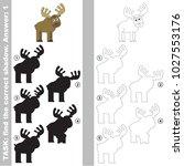 big elk to find the correct... | Shutterstock .eps vector #1027553176