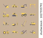 icons construction machinery... | Shutterstock .eps vector #1027555792