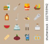 icons gastronomy with... | Shutterstock .eps vector #1027555942