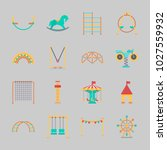icons about amusement park with ... | Shutterstock .eps vector #1027559932