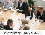 diverse multiracial business...   Shutterstock . vector #1027563328