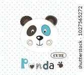 vector  illustration with cute... | Shutterstock .eps vector #1027565272