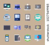 icons computer with social... | Shutterstock .eps vector #1027569985
