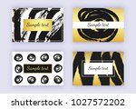 set of black and gold business... | Shutterstock .eps vector #1027572202
