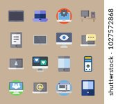 icons computer with settings ... | Shutterstock .eps vector #1027572868