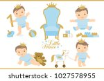little prince. royal vector... | Shutterstock .eps vector #1027578955