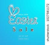easter sale banner template... | Shutterstock .eps vector #1027581172