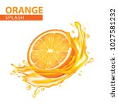 orange splash vector...