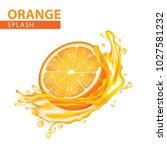 orange splash vector... | Shutterstock .eps vector #1027581232