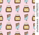seamless baby pattern with... | Shutterstock .eps vector #1027582552