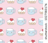 seamless baby pattern with... | Shutterstock .eps vector #1027583176