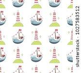 navy vector seamless patterns....   Shutterstock .eps vector #1027583512