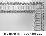 fragment of ornamental border.... | Shutterstock . vector #1027585282