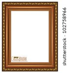 gilded wooden frame.vector | Shutterstock .eps vector #102758966