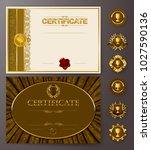 set of elegant templates of... | Shutterstock .eps vector #1027590136