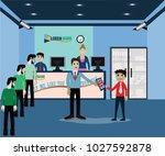 mobile application concept use... | Shutterstock .eps vector #1027592878