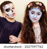 zombie apocalypse kids concept. ... | Shutterstock . vector #1027597762