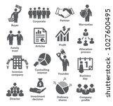 business management icons pack... | Shutterstock .eps vector #1027600495