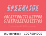 italic alphabet letters and... | Shutterstock .eps vector #1027604002