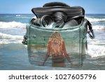 the effect of double exposure ... | Shutterstock . vector #1027605796