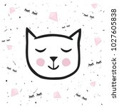 painted cute vector cat....   Shutterstock .eps vector #1027605838