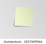paper sticker with shadow on... | Shutterstock .eps vector #1027609966