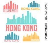 hong kong china flat icon... | Shutterstock .eps vector #1027610098