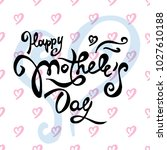 vector mather's day card.... | Shutterstock .eps vector #1027610188