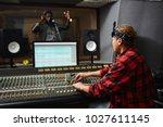 contemporary sound operator... | Shutterstock . vector #1027611145