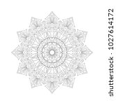 symmetric ornament of coloring...   Shutterstock .eps vector #1027614172