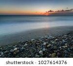 sunset on the caribbean ... | Shutterstock . vector #1027614376