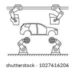 thin line style car assembly... | Shutterstock .eps vector #1027616206