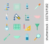 icons about laboratory with... | Shutterstock .eps vector #1027619182