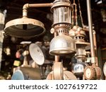 an old  vintage lamp with a... | Shutterstock . vector #1027619722