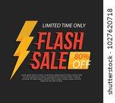 flash deal sale banner | Shutterstock .eps vector #1027620718
