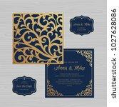 wedding invitation or greeting... | Shutterstock .eps vector #1027628086