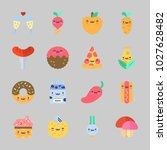 icons about food with milk ... | Shutterstock .eps vector #1027628482