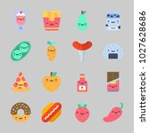 icons about food with fries ... | Shutterstock .eps vector #1027628686