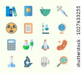 icons about science with loupe  ...   Shutterstock .eps vector #1027633255