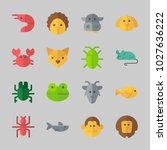 icons about animals with... | Shutterstock .eps vector #1027636222