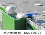 industrial steel air... | Shutterstock . vector #1027640776