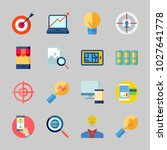 icons about seo with stats ... | Shutterstock .eps vector #1027641778
