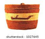 makah lidded basket   kayaker... | Shutterstock . vector #1027645
