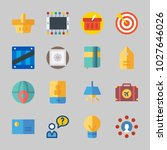icons about business with... | Shutterstock .eps vector #1027646026