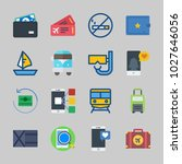 icons about travel with van ... | Shutterstock .eps vector #1027646056