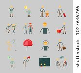 icons about human with shopping ... | Shutterstock .eps vector #1027646296